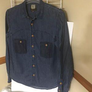 PRPS Goods & Co. Men's Linen Blend Chambray Shirt